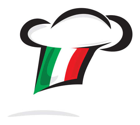 bandera italiana: Italia cocinero sombrero