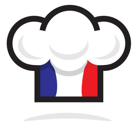 french flag: France chef hat Illustration