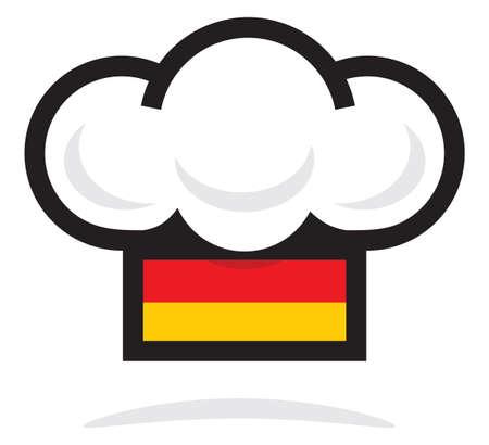 kitchener: Germany chef hat Illustration