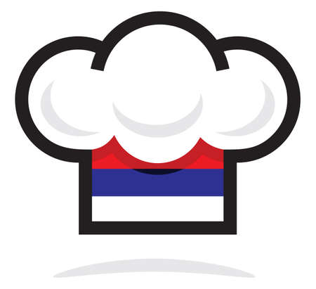 chapeau chef: Serbe chapeau de chef Illustration