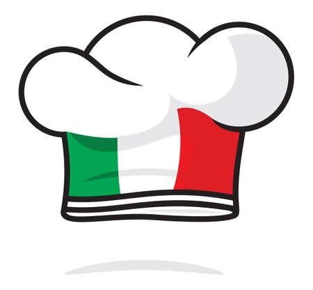 master chef: Italian chef hat Illustration