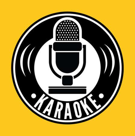 vintage mic: Karaoke Microphone symbol