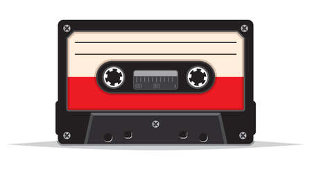 compact cassette: Cassette tape Illustration