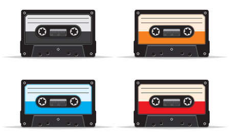 analogical: Cassette tape set Illustration