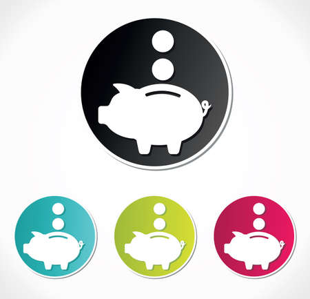 Piggy bank icon Stock Vector - 18441002
