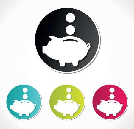 piggy bank: Piggy bank icon