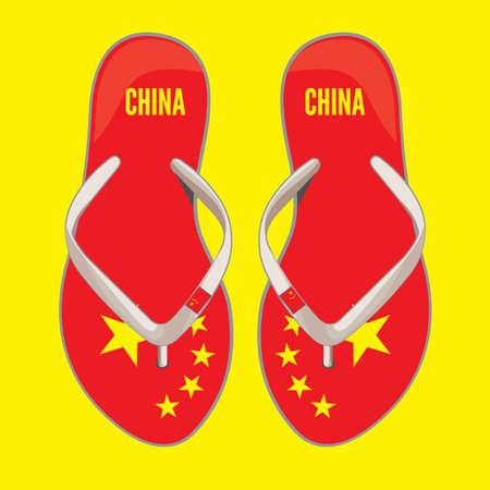 China flip flop sandals Stock Vector - 18499100
