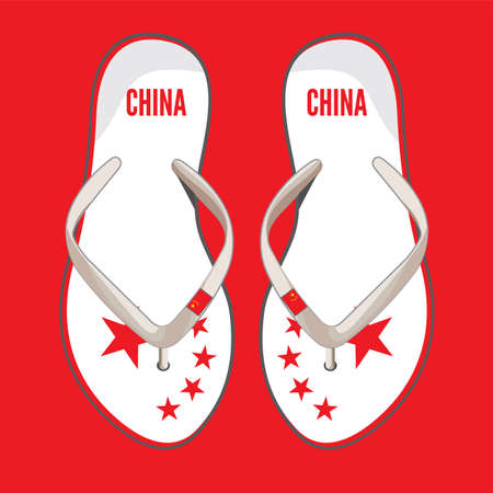 China flip flop sandals Stock Vector - 18440018