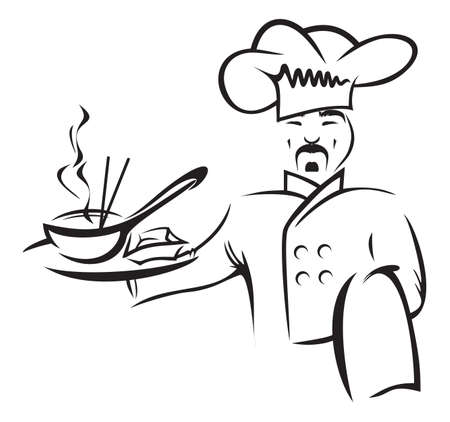 asian cartoon: chinese chef