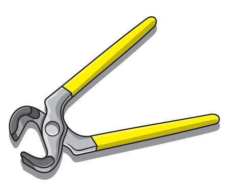 metal cutting: Clip art illustration of pliers