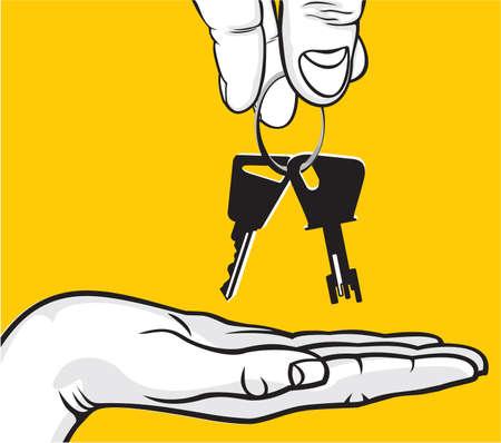 Handing Over Keys Stock Vector - 18440010