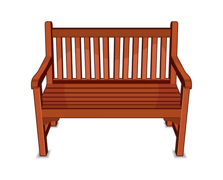 seating furniture: Wooden Bench
