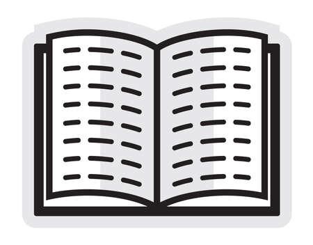 Open book - icon Stock Vector - 18302731