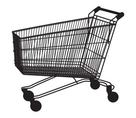 isolated shopping cart on the white Stock Vector - 18439971