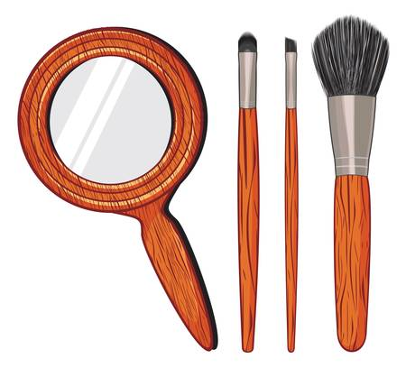 make up kit Vector
