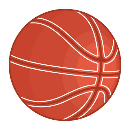 floor ball: basketball ball Illustration