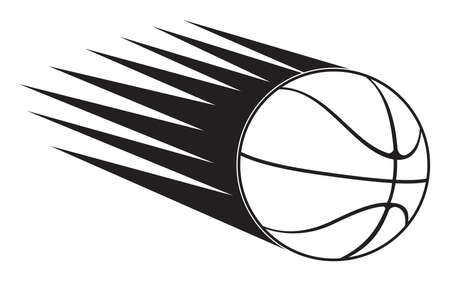 basketball ball in speed Vector