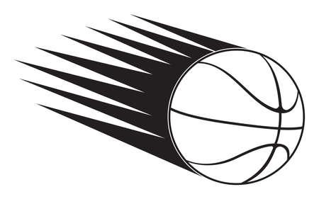 basketball ball in speed Stock Vector - 18349293