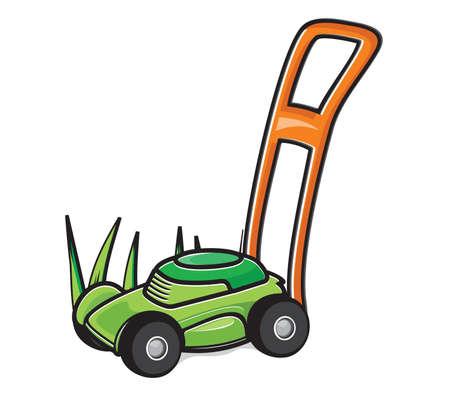 gras maaien: Grasmaaier Stock Illustratie