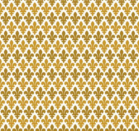 Royal pattern - lily seamless pattern Vector
