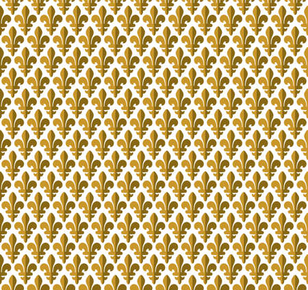 Royal pattern - lily seamless pattern Vector
