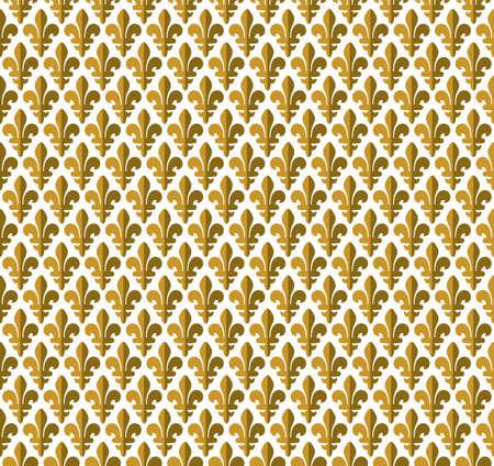 Royal pattern - lily seamless pattern Stock Vector - 18349276