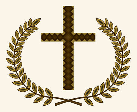 teutonic: Golden cross with laurel