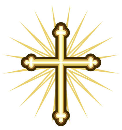 crucifix: Golden cross