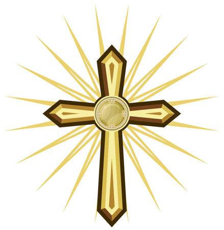 espiritu santo: Cruz de oro