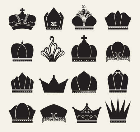 queen crown: crown collection Illustration