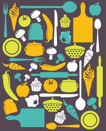 cute kitchen pattern Stock Vector - 18688778