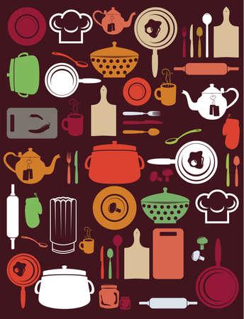 mincer: cute kitchen pattern