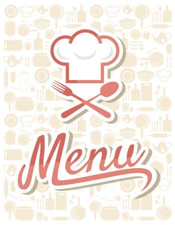 chef hat: restaurant menu design Illustration