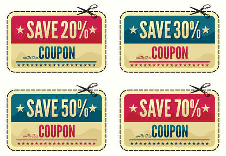 Coupon sale collection Stock Vector - 18435375