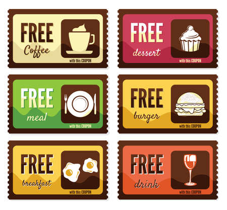 food and drink industry: Free labels Illustration