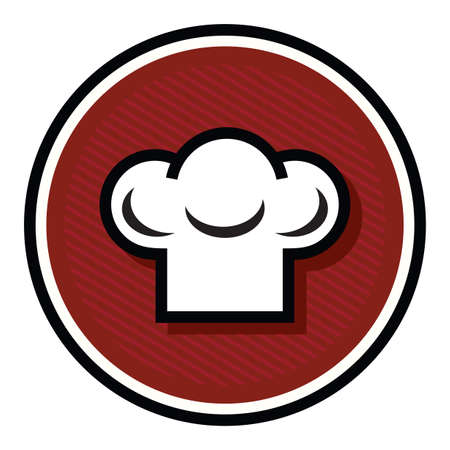 chefs cooking: chef hat icon Illustration