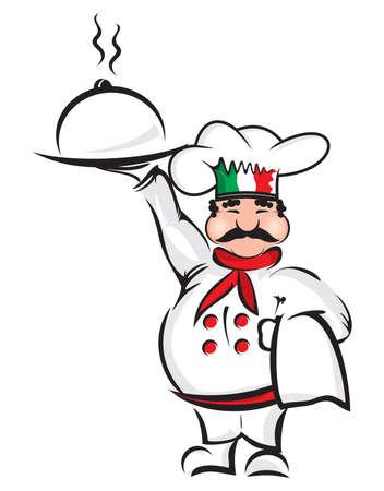 cookery: Italian chef Illustration