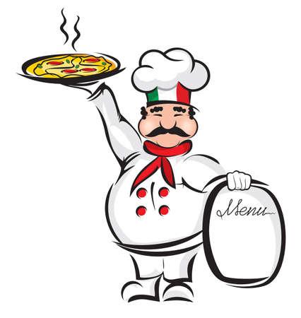 cocinero italiano: Cocinero Vectores