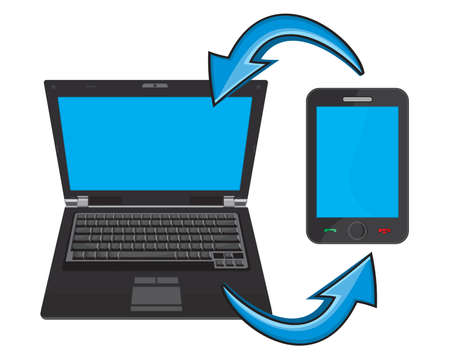 synchronization: Laptop and smartphone communication