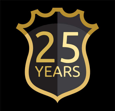 25 years old: 25 years shield