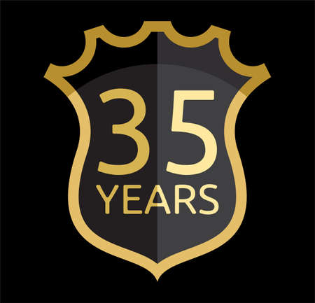35 years: 35 years shield