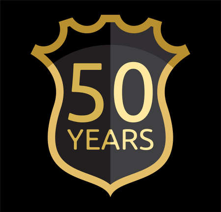 50 years jubilee: 50 years shield