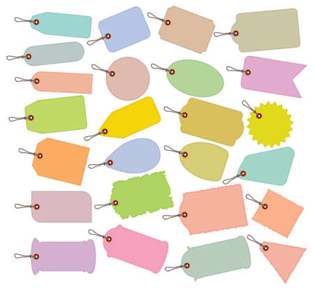 Big price tag collection Vector