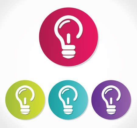 glowing light bulb: light bulb icon