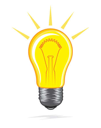 light bulb icon Stock Vector - 18688976