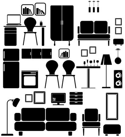 sofa furniture: Furniture Illustration