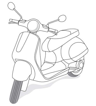 small city motorcycle outline
