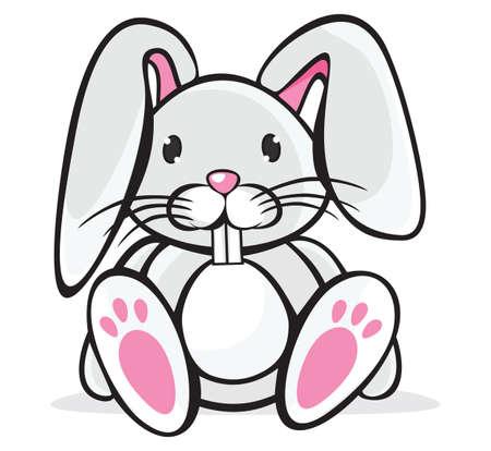 conejo caricatura: Lindo conejo