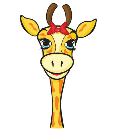 giraffe isolated on the white Vector