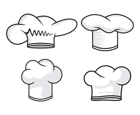 gorro chef: sombrero del cocinero colecci�n Vectores